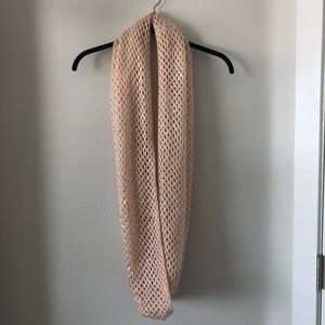 H&M pink knit sequin infinity scarf soft and cozy